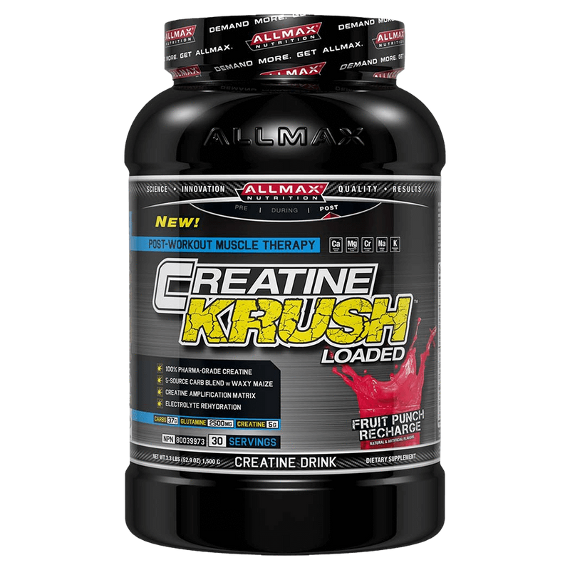 Allmax Creatine Krush Creatine 3.3lb / Fruit Punch Recharge at Supplement Superstore Canada