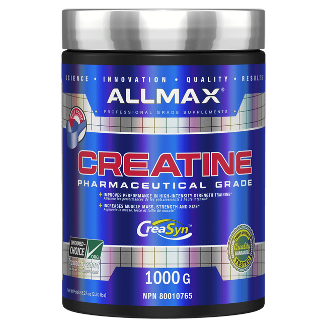 Unflavoured Allmax Creatine Monohydrate Raw Ingredients at Supplement Superstore Canada