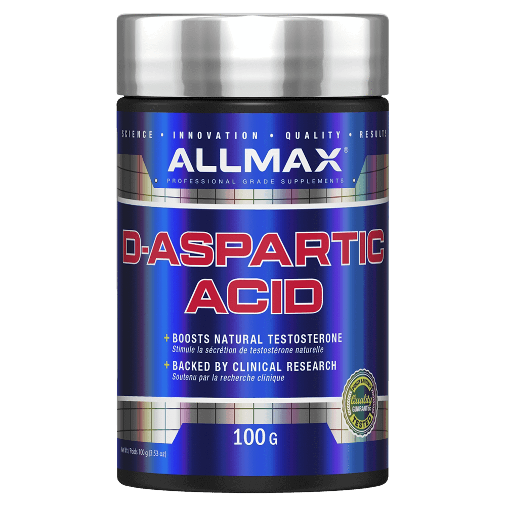 Allmax D-Aspartic Acid Raw Ingredient Hormone Support Unflavoured / 100g at Supplement Superstore Canada