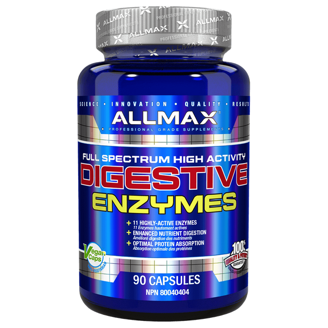 Allmax Digestive Enzymes Digestion Support 90 Capsules at Supplement Superstore Canada
