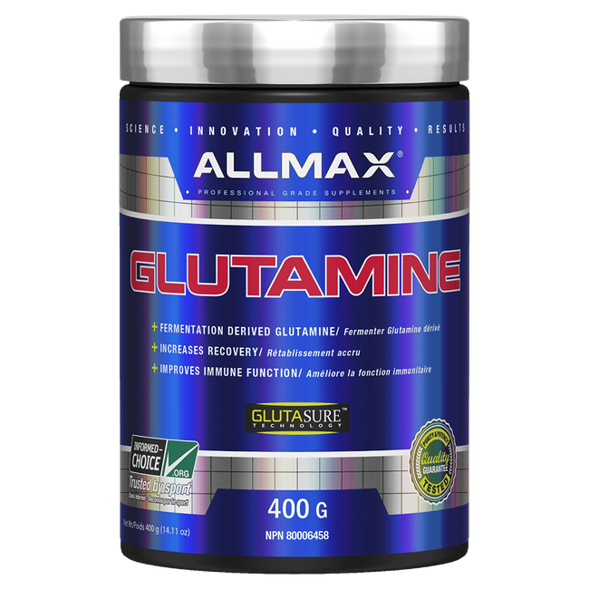 Unflavoured Allmax Glutamine Recovery Raw Ingredients at Supplement Superstore Canada