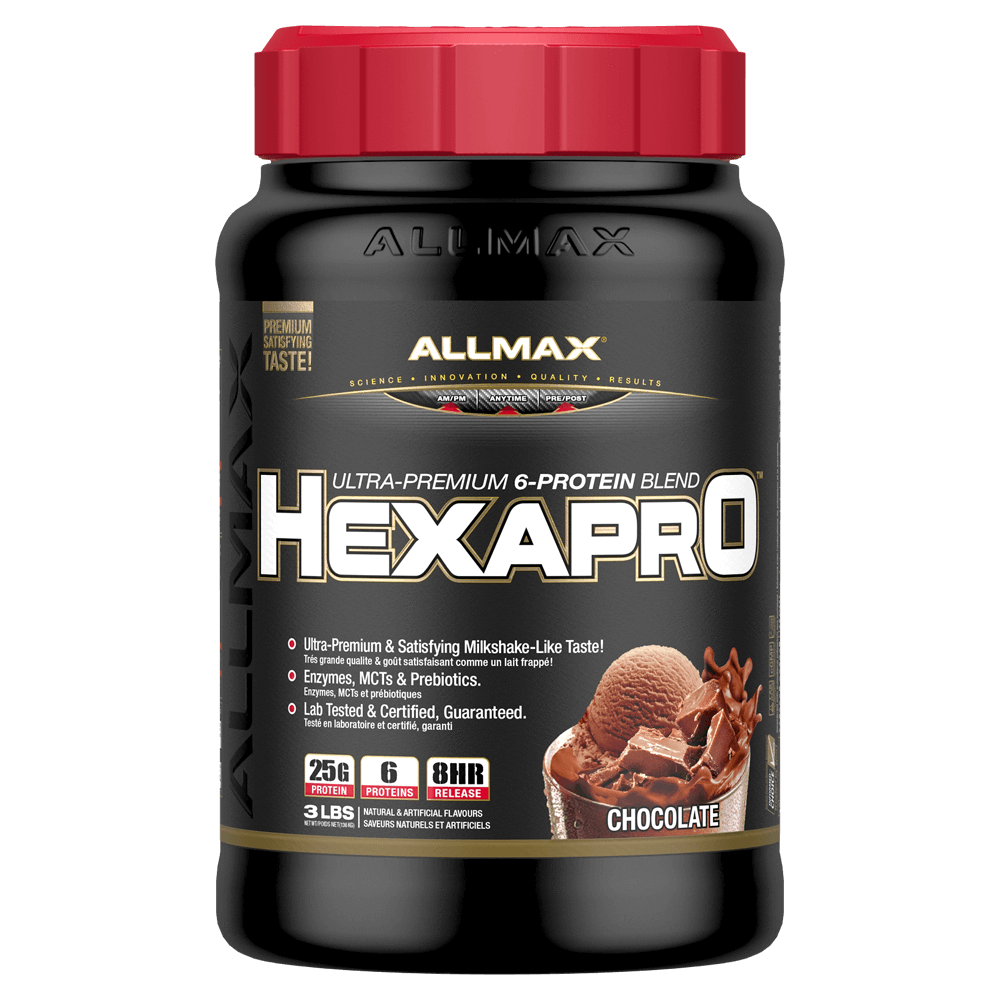 Allmax HexaPro Sustained Release Protein 3lb / Chocolate at Supplement Superstore Canada