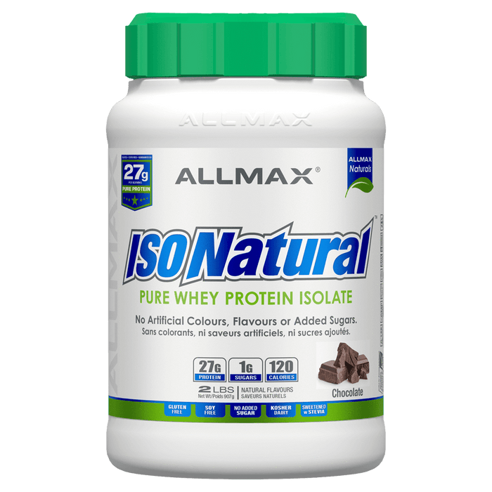 Allmax IsoNatural Protein Powder 2lb / Chocolate at Supplement Superstore Canada 665553200231