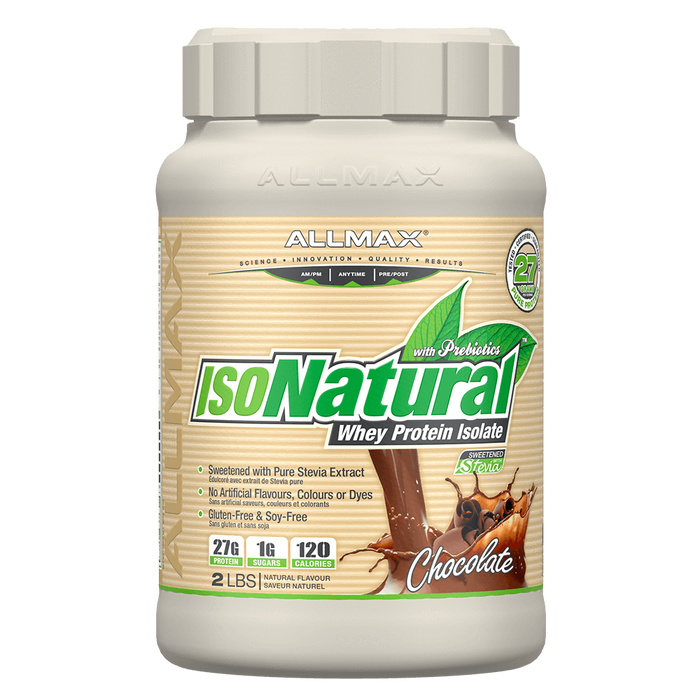 Allmax IsoNatural Whey Protein Isolate 2lb / Chocolate at Supplement Superstore Canada