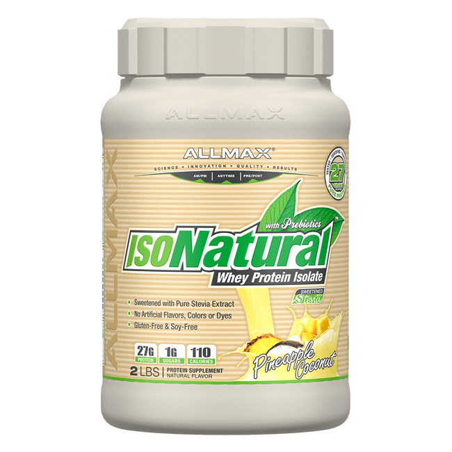 Pineapple Coconut IsoNatural by Allmax Whey Protein Isolate at Supplement Superstore Canada