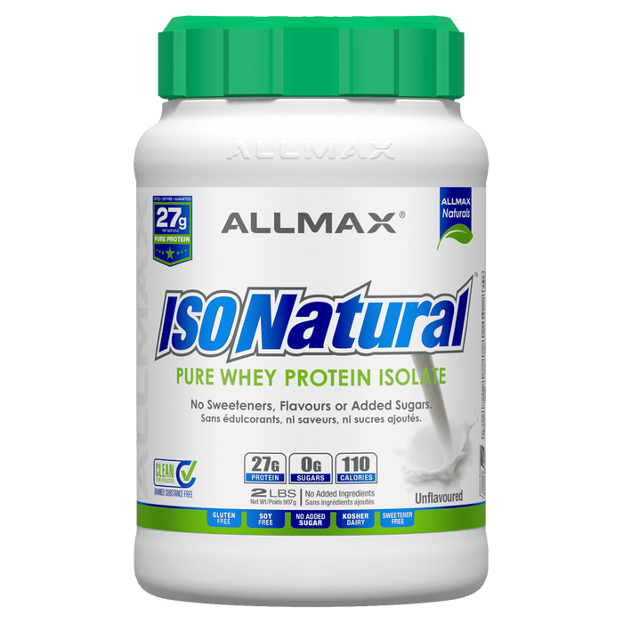 Allmax IsoNatural Protein Powder 2lb / Unflavoured at Supplement Superstore Canada 665553111926
