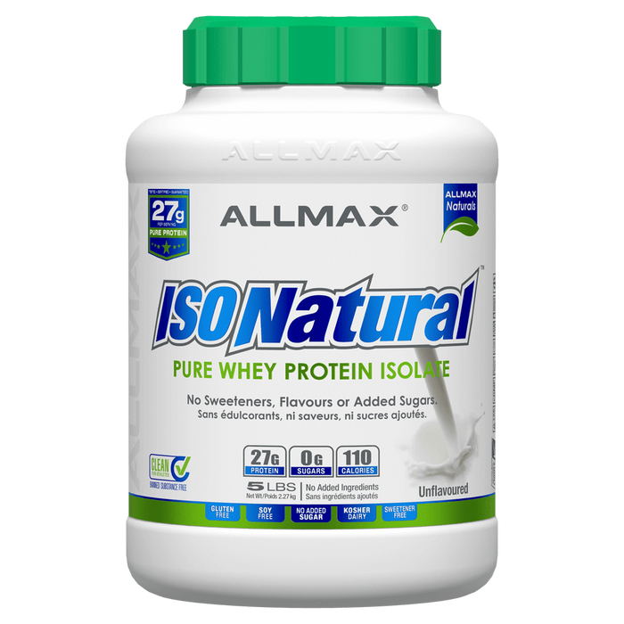 Allmax IsoNatural Protein Powder 5lb / Unflavoured at Supplement Superstore Canada 665553111957
