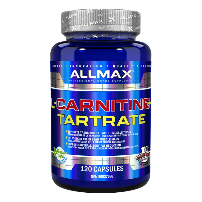 Allmax L-Carnitine Tartrate Capsules Fat Burner Weight Loss Support at Supplement Superstore Canada