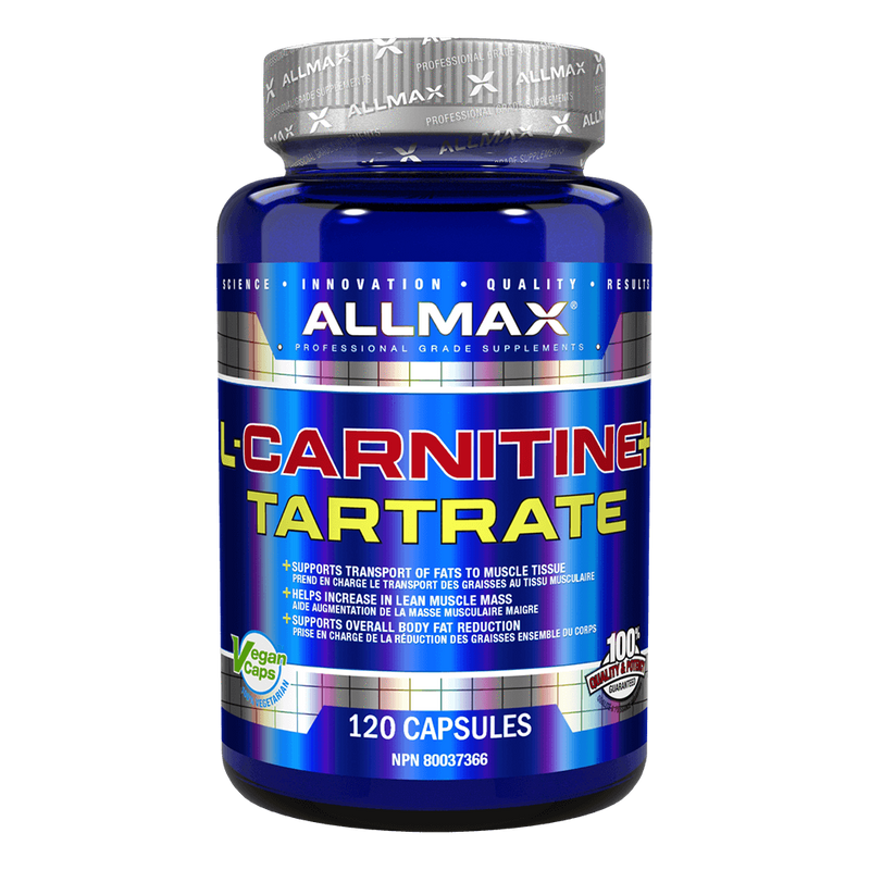 Allmax L-Carnitine Tartrate Carnitine 120 Capsules at Supplement Superstore Canada