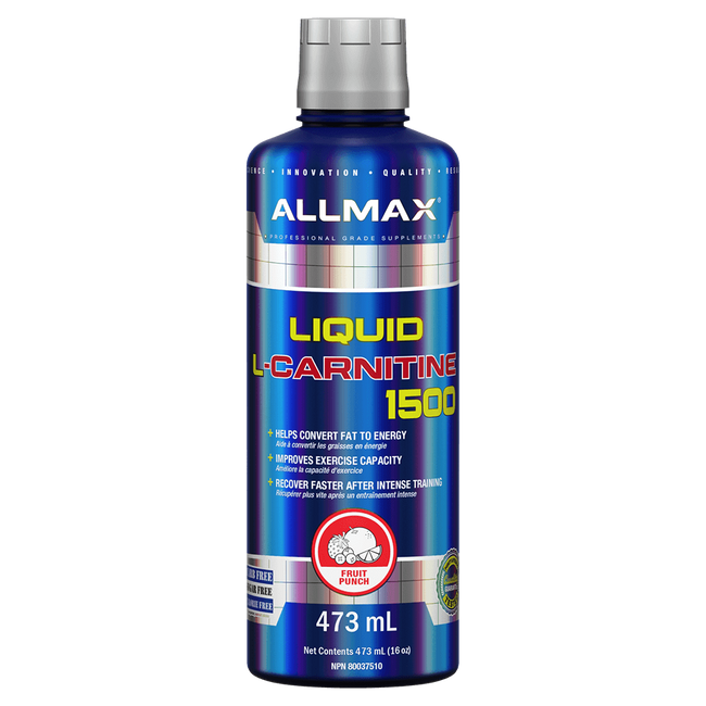 Fruit Punch L Carnitine Liquid by Allmax Fat Burner Weight Loss Support at Supplement Superstore Canada