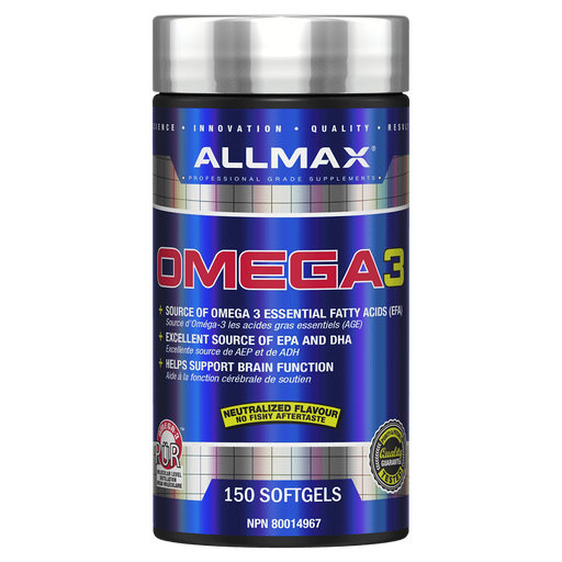Allmax Omega-3 Omega-3 180 Softgels at Supplement Superstore Canada