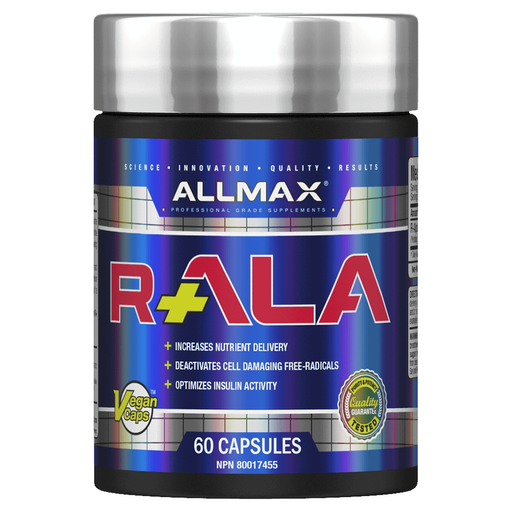 Allmax R-ALA Alpha Lipoic Acid Nutrient Uptake Anti Oxidant General Health at Supplement Superstore Canada
