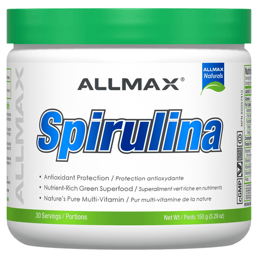 Allmax Spirulina Health Supplements 30 Servings / Unflavoured at Supplement Superstore Canada 665553214566