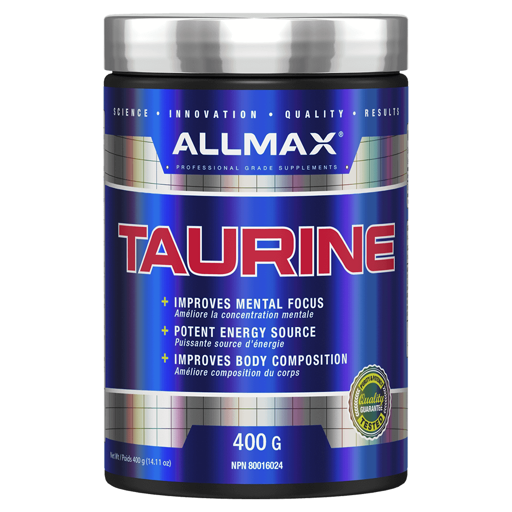 Allmax Taurine Raw Ingredient 400g / Unflavoured at Supplement Superstore Canada