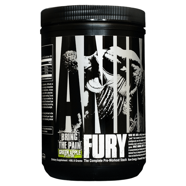 Animal Fury Pre-Workout 30 Servings / Green Apple at Supplement Superstore Canada