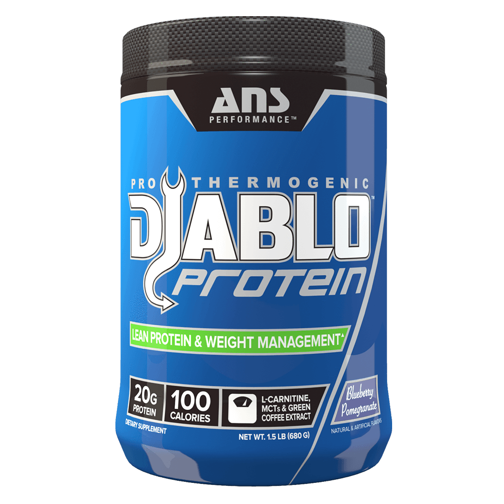 Blueberry Pomegranate Diablo Protein by ANS Performance Fat Burner Support Protein at Supplement Superstore Canada