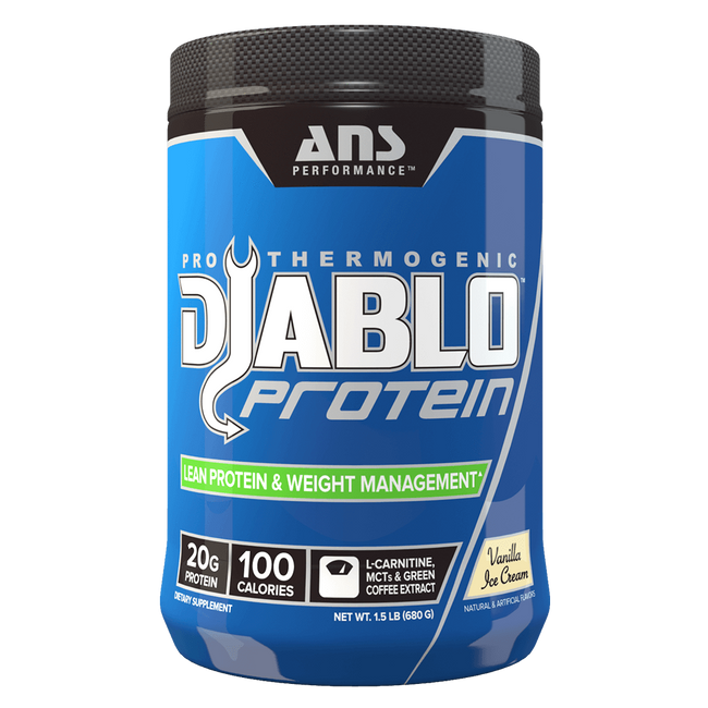 Vanilla Ice Cream Diablo Protein by ANS Performance Fat Burner Support Protein at Supplement Superstore Canada