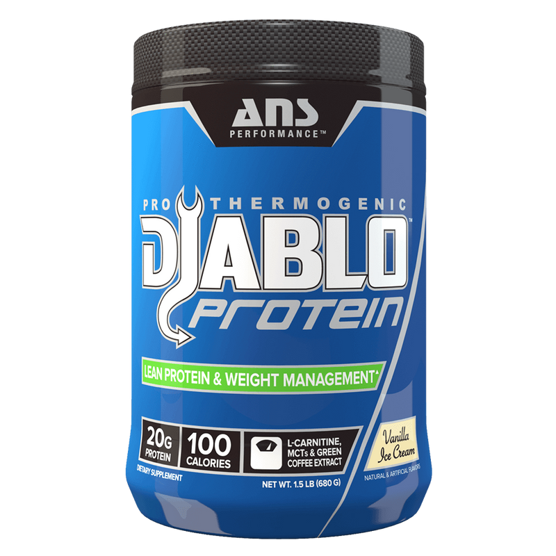 ANS Performance Diablo Protein Mixed Source Whey Protein 1.5lb / Chocolate Brownie at Supplement Superstore Canada
