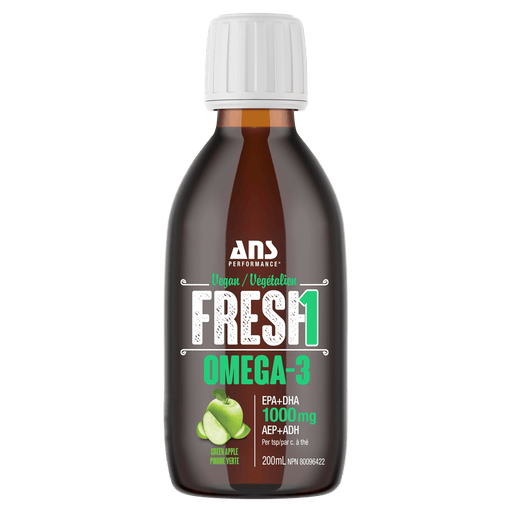 ANS Performance Fresh1 Vegan Omega-3 Fish Oil 200ml / Green Apple at Supplement Superstore Canada 659153876248