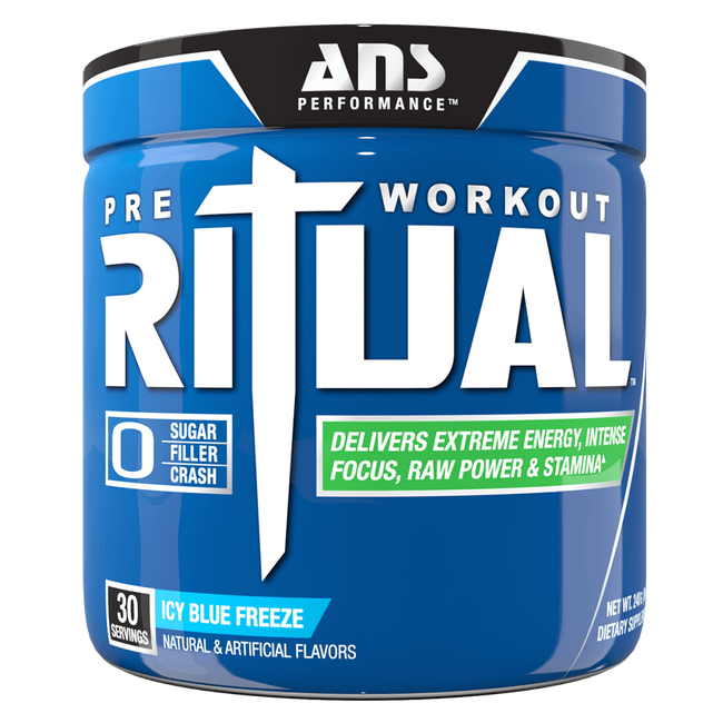 ANS Performance Ritual Pre-Workout 30 Servings / Icy Blue Freeze at Supplement Superstore Canada