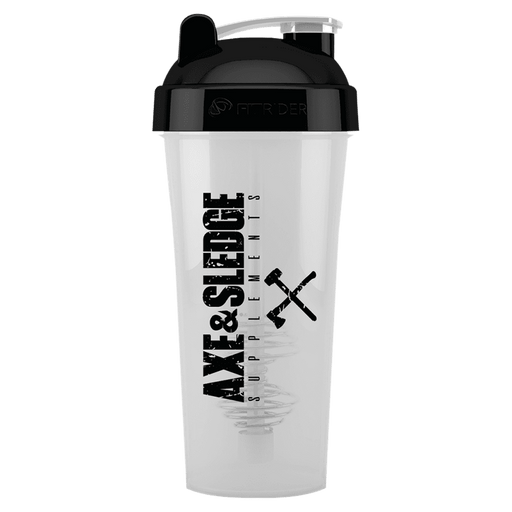 Axe & Sledge Shaker Cup Gym Accessories 700ml / Clear/Black at Supplement Superstore Canada