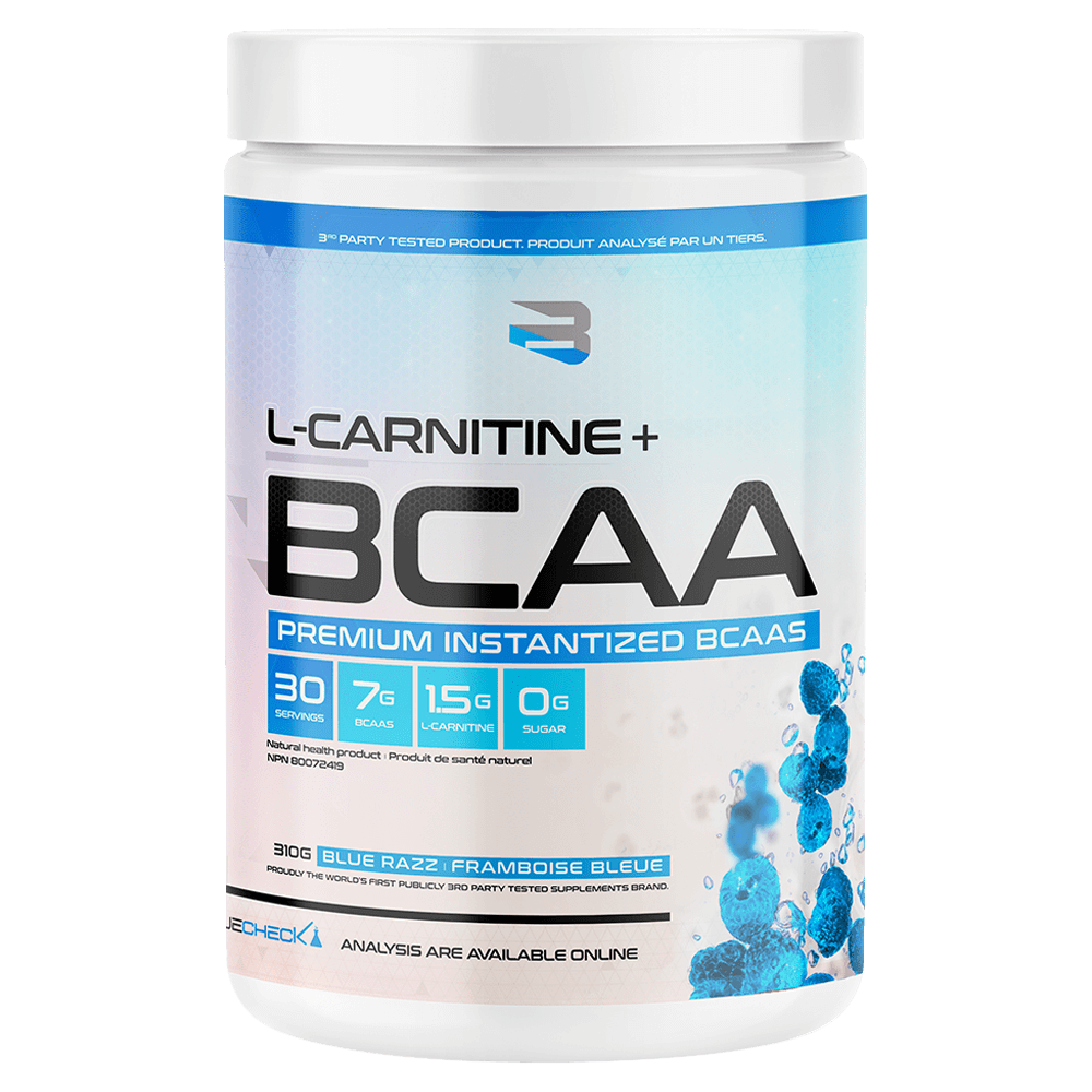 Believe Supplements BCAA + L-Carnitine BCAA 30 Servings / Blue Razz at Supplement Superstore Canada