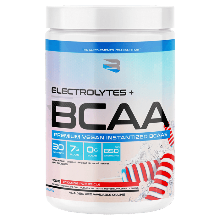 Believe Supplements Electrolytes + BCAA Amino Acid Supplements 30 Servings / Cyclone Pumpsicle at Supplement Superstore Canada 628055911845