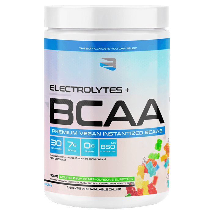 Believe Supplements Electrolytes + BCAA Amino Acid Supplements 30 Servings / Sour Gummy Bears at Supplement Superstore Canada 628055911708