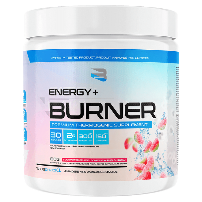 Believe Supplements Energy + Burner Fat Burner 30 Servings / Sour Watermelons at Supplement Superstore Canada