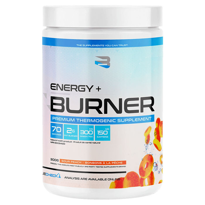 Believe Supplements Energy + Burner Fat Burner 70 Servings / Sour Peach at Supplement Superstore Canada
