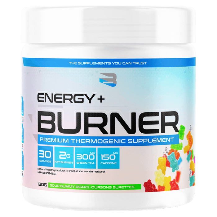 Believe Supplements Energy + Burner Fat Burner Supplements 30 Servings / Sour Gummy Bears at Supplement Superstore Canada 628055911968