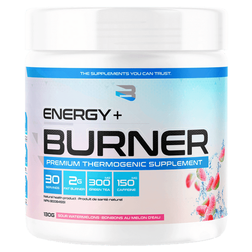 Believe Supplements Energy + Burner Fat Burner Supplements 30 Servings / Sour Watermelons at Supplement Superstore Canada 628055911128