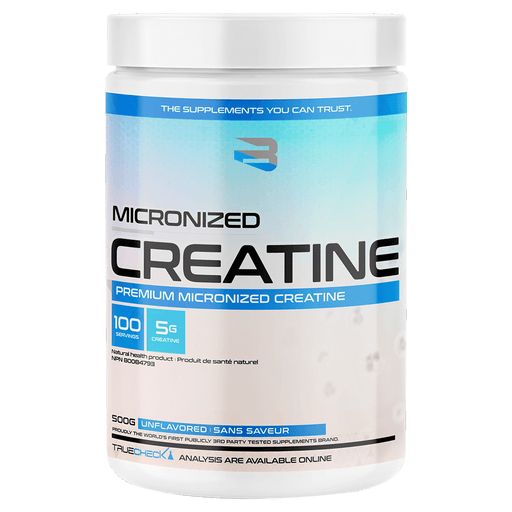 Believe Supplements Micronized Creatine Creatine Supplements 500g / Unflavoured at Supplement Superstore Canada 628055911418