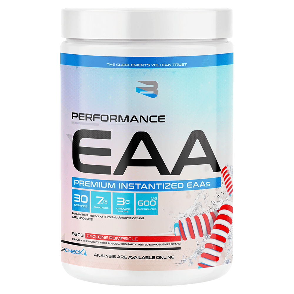 Believe Supplements Performance EAA BCAA 30 Servings / Cyclone Pumpsicle at Supplement Superstore Canada