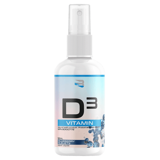 Believe Supplements Vitamin D3 Spray Vitamins 162 Servings / Blueberry at Supplement Superstore Canada 628055911517
