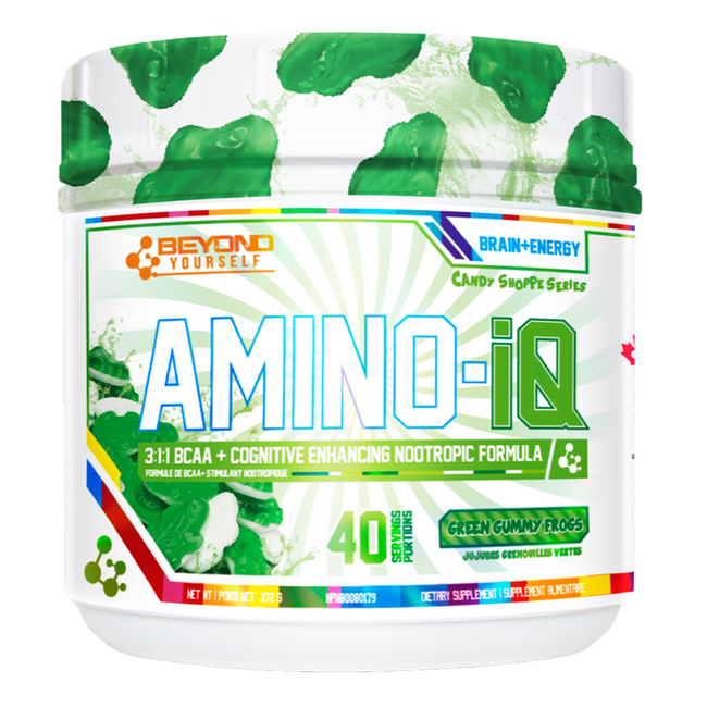 Green Gummy Frogs Amino IQ by Go Beyond Yourself BCAA Energy Nootropic at Supplement Superstore Canada