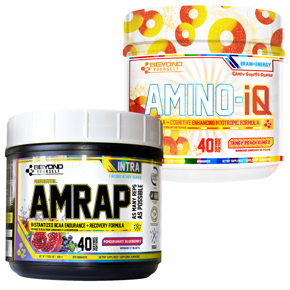 Beyond Yourself Amino IQ + AMRAP Combo Stack Deal Watermelon Candy / Blue Freeze at Supplement Superstore Canada