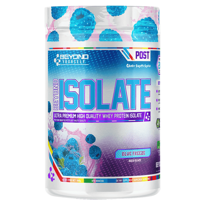 Beyond Yourself Beyond Isolate: Candy Shoppe Series Protein Powder 28 Servings / Blue Freeze at Supplement Superstore Canada 666873999973