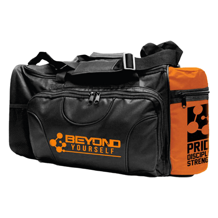 Beyond Yourself Gym Bag Gym Bag Black/Orange at Supplement Superstore Canada