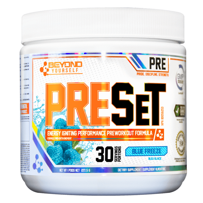 Blue Freeze PreSet by Go Beyond Yourself Pre Workout at Supplement Superstore Canada