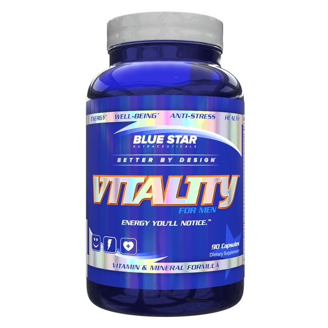 Blue Star Nutraceuticals Vitality For Men Multi-Vitamin 90 Capsules at Supplement Superstore Canada