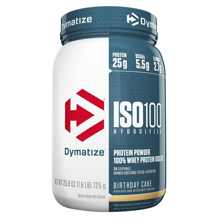Dymatize Iso-100 Whey Protein Isolate 1.6lb / Birthday Cake at Supplement Superstore Canada