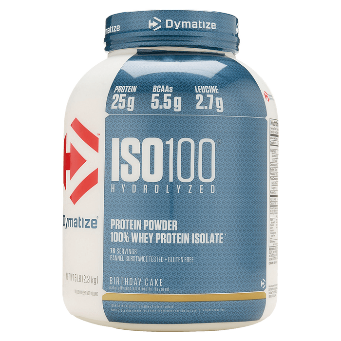 Dymatize Iso-100 Whey Protein Isolate 5lb / Birthday Cake at Supplement Superstore Canada