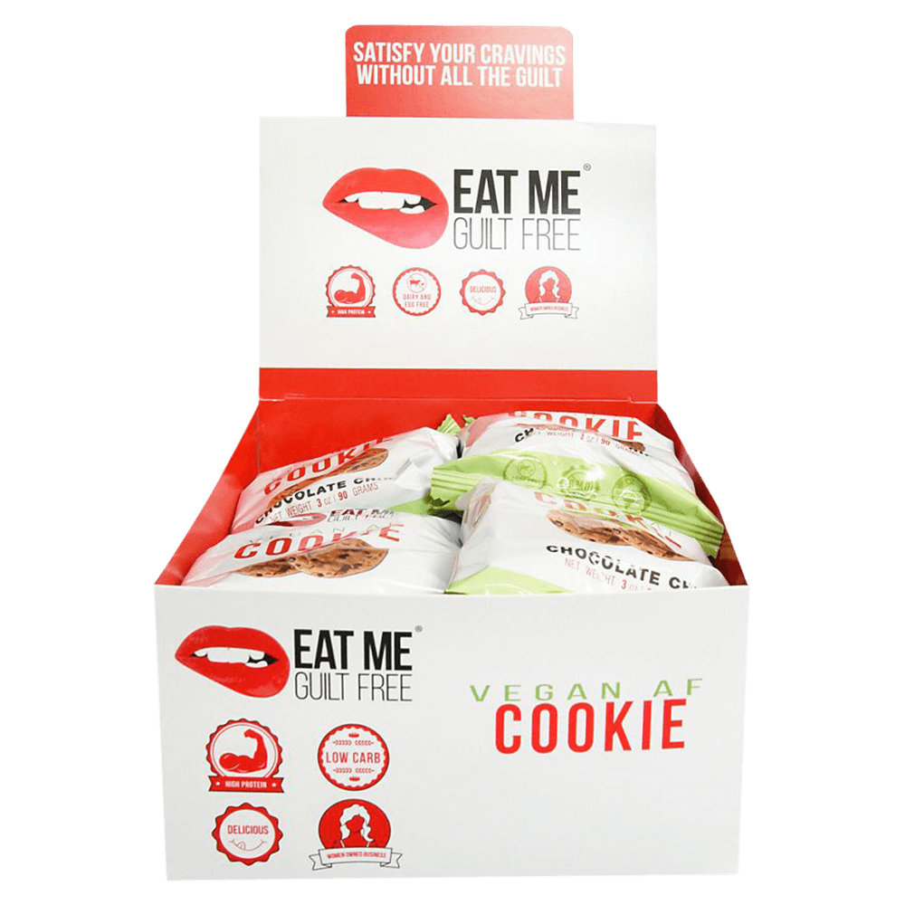Eat Me Guilt Free Vegan AF Cookie Protein Bars Box of 8 / Chocolate Chip at Supplement Superstore Canada