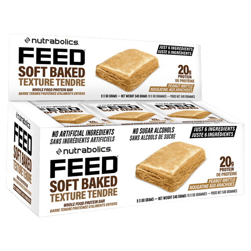 Feed Soft Baked Protein Bar Protein Bars Box of 9 / Peanut Brittle at Supplement Superstore Canada