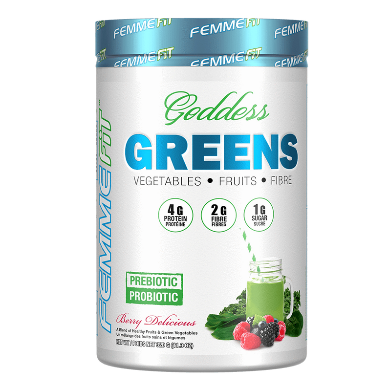 Femme Fit Goddess Greens Multi-Vitamin 32 Servings / Berry Delicious at Supplement Superstore Canada