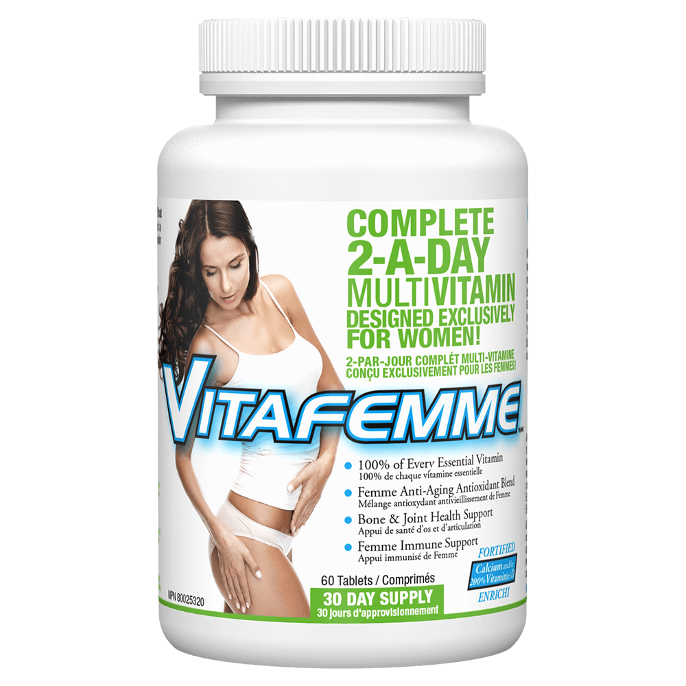 Femme Fit VitaFemme Multi-Vitamin 60 Tablets at Supplement Superstore Canada