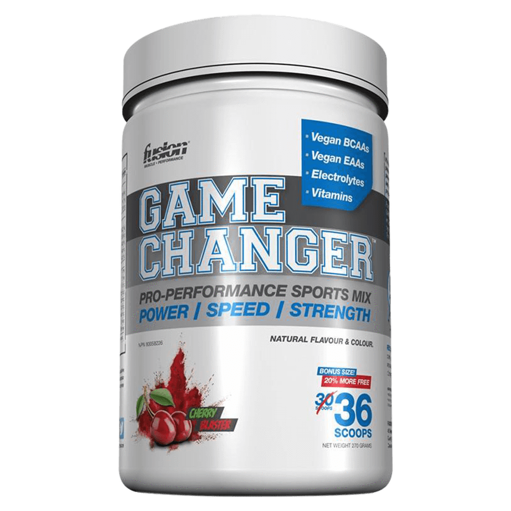 "Fusion Bodybuilding Game Changer BCAA 36 Servings ""Bonus Size"" / Cherry Blaster at Supplement Superstore Canada"