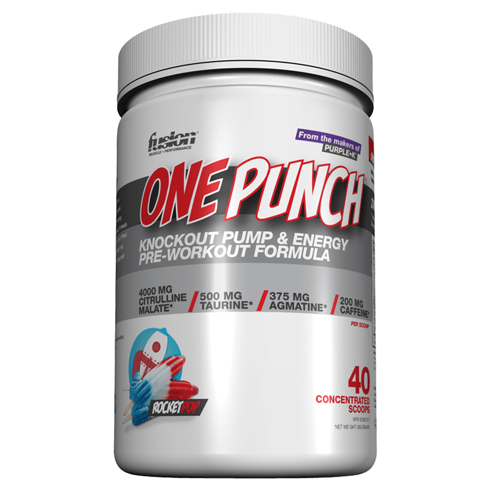 Fusion Bodybuilding One Punch Pre-Workout 40 Servings / Rocket Pop at Supplement Superstore Canada