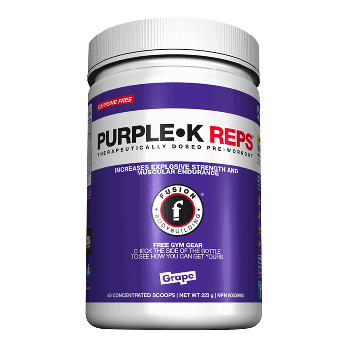 Fusion Bodybuilding Purple K Reps Stimulant Free Pre-Workout 40 Servings / Rocket Pop at Supplement Superstore Canada